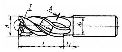 Фреза концевая чертеж компас